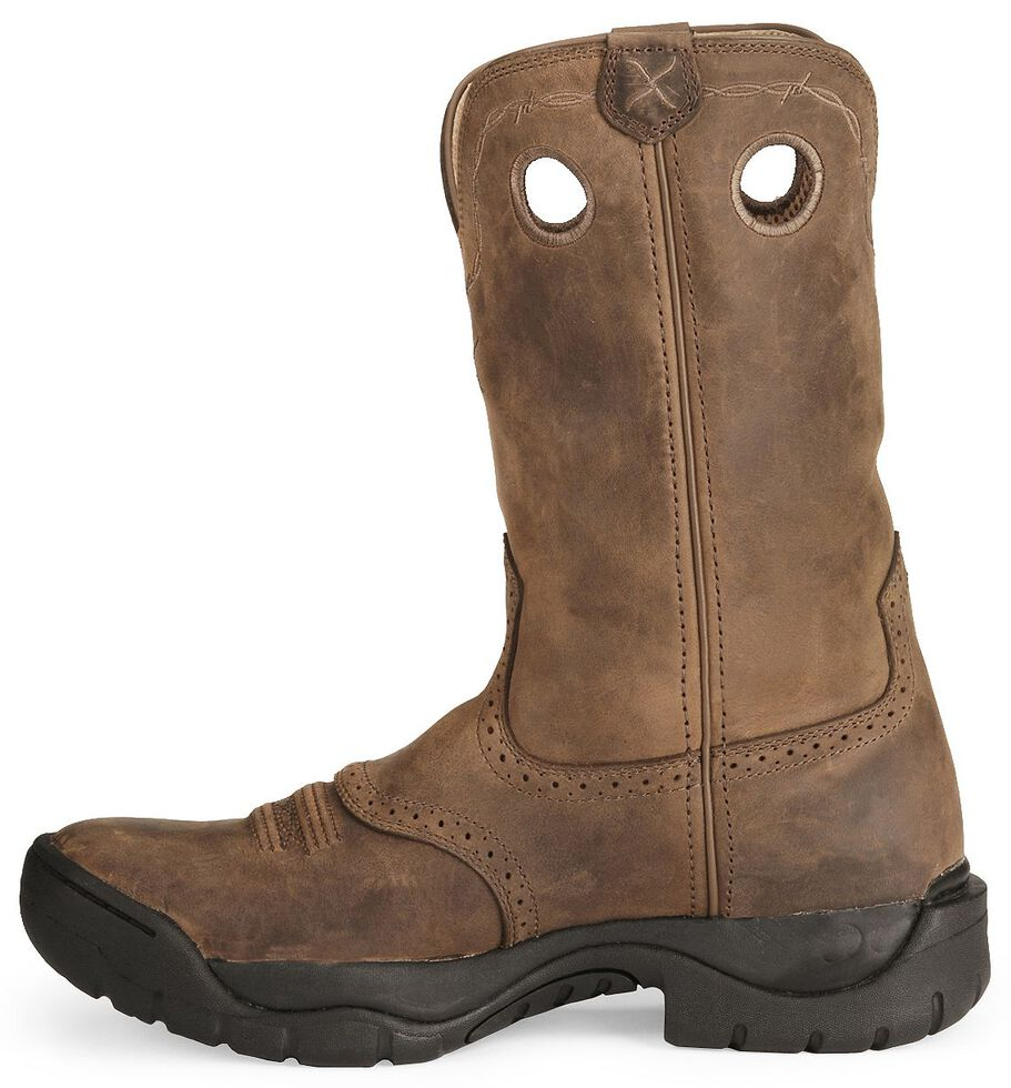 Twisted X Men's Brown All Around Barn Boots - Round Toe, Distressed, hi-res