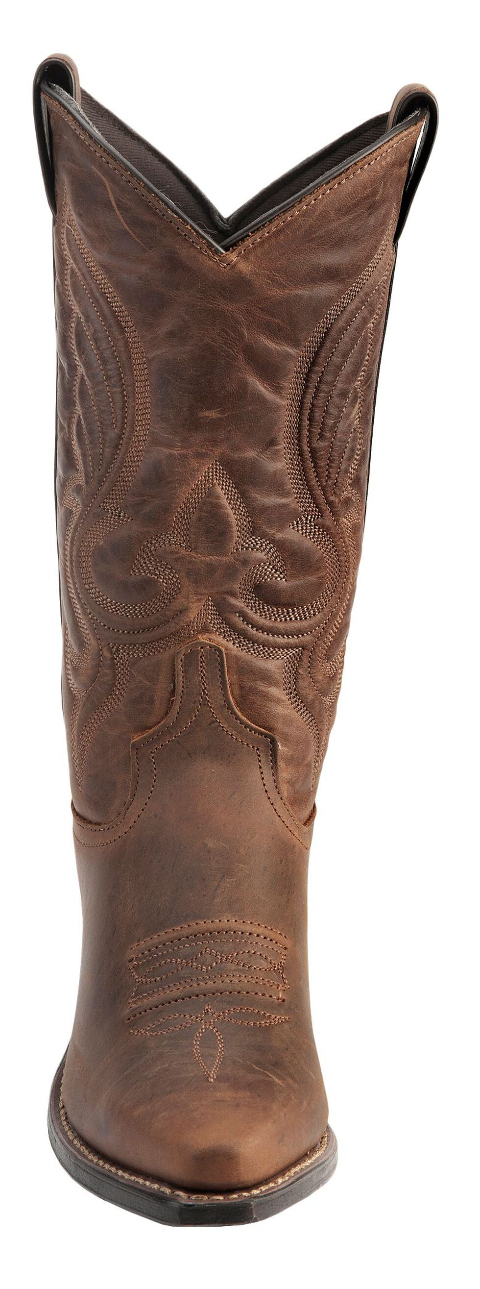 Abilene Cowhide Cowgirl Boots - Snip Toe, Brown, hi-res