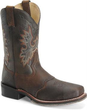 Double H Men's ICE Roper Western Boots - Steel Toe, Brown, hi-res