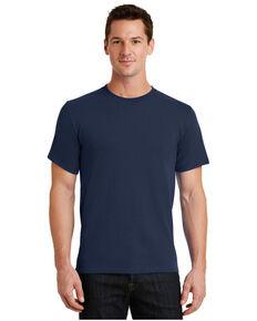 Port & Company Men's Navy Essential Solid Pocket Short Sleeve Work T-Shirt , Navy, hi-res