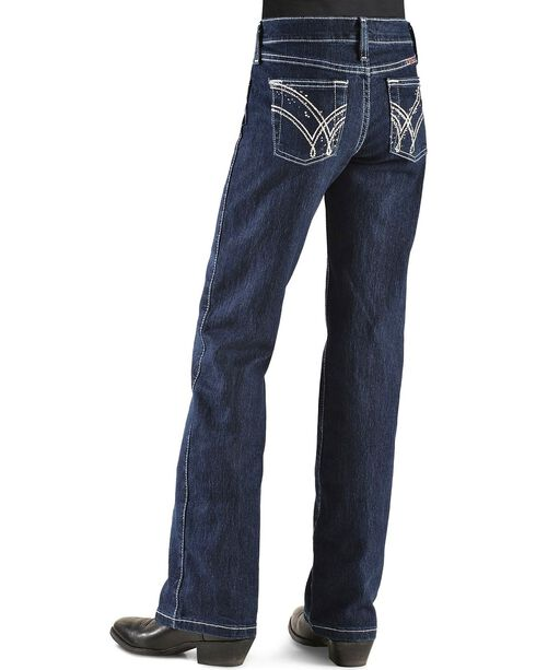 Wrangler Girls' Q Baby Ultimate Riding Jeans - 4-6X, Denim, hi-res