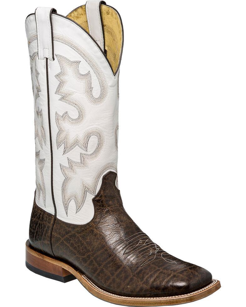 Tony Lama Men's Sealy Brown Cowboy Boots - Square Toe, Chocolate, hi-res