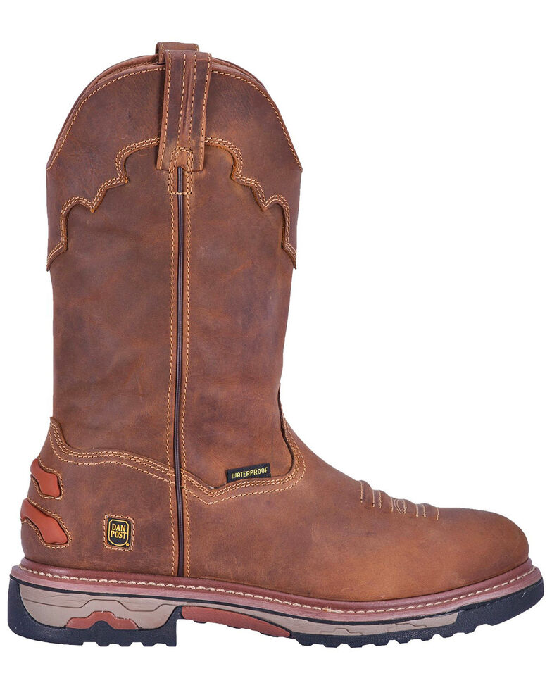 Dan Post Men's Journeyman Waterproof Work Boots - Round Toe, Brown, hi-res