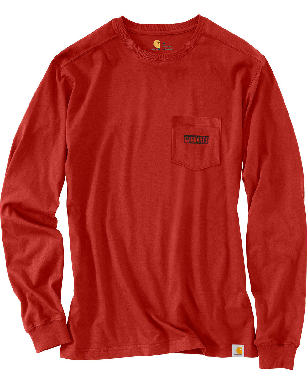 Carhartt Men's Maddock Graphic Great Outdoors Long-Sleeve T-Shirt , Chilli, hi-res