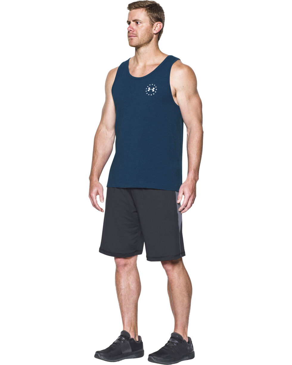 Under Armour Men's Navy Freedom Flag Tank , Navy, hi-res