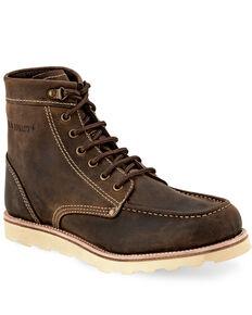 "Old West Men's 6"" Chelsea Outdoor Boots - Moc Toe, Brown, hi-res"