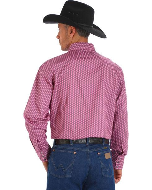 Wrangler Men's Tough Enough To Wear Pink Geo Print Shirt , Pink, hi-res