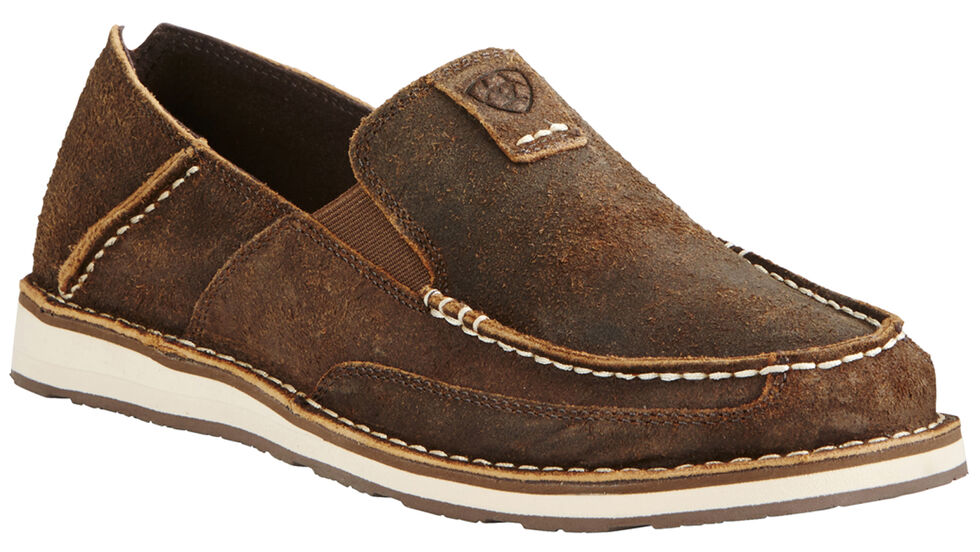 Ariat Men's Rough Oak Cruiser Shoes - Moc Toe, Brown, hi-res