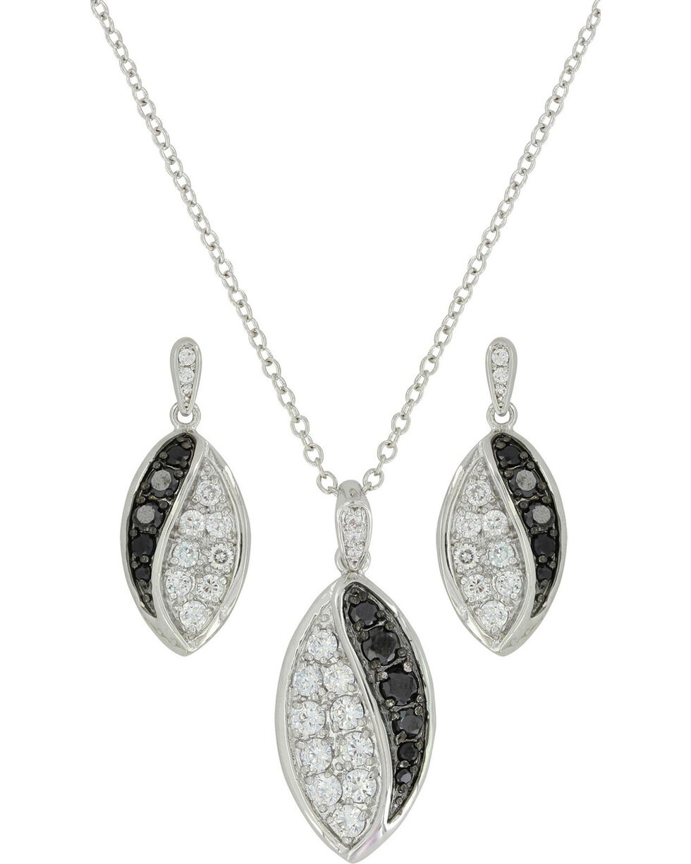 Montana Silversmiths Women's Budding Lily Jewelry Set, Silver, hi-res