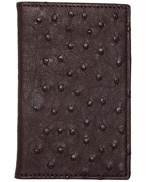 Lucchese Men's Sienna Ostrich BiFold Wallet , Brown, hi-res