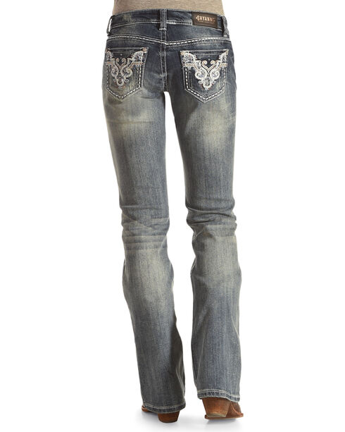Shyanne Women's Sequin Embroidered Jeans - Boot Cut, Blue, hi-res