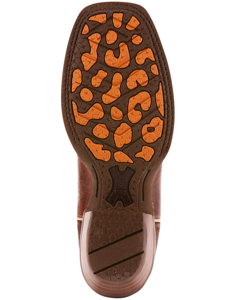 Ariat Women's Cowtown Cutter Scroll Inlay Performance Cowgirl Boots - Square Toe, Brown, hi-res