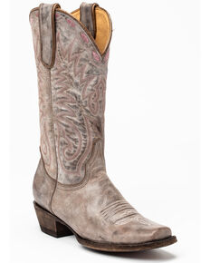Idyllwind Women's Tie Down Western Boots - Square Toe, Grey, hi-res