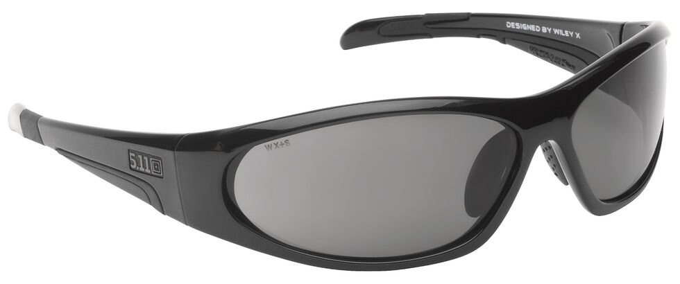 5.11 Tactical Ascend Sunglasses (Plain Smoke Lens), Black, hi-res