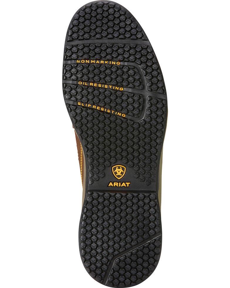 Ariat Men's Contender Work Shoes - Steel Toe, Brown, hi-res