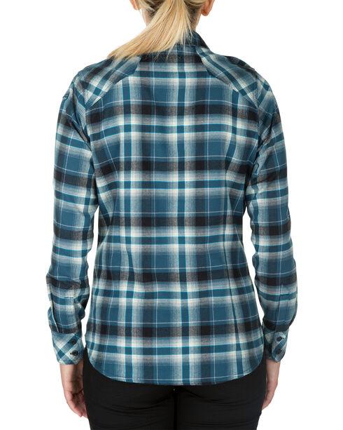 5.11 Tactical Women's Heartbreaker Flannel Shirt , Blue, hi-res