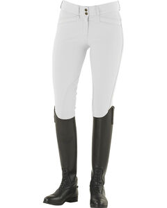 Ovation Celebrity Slimming Knee Patch DX Breeches, White, hi-res