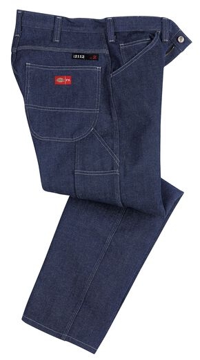 Dickies Relaxed Straight Leg Flame-Resistant Carpenter Jeans, Indigo, hi-res