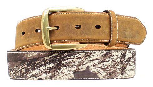 Nocona Mossy Oak Camo Billet Belt, Mossy Oak, hi-res