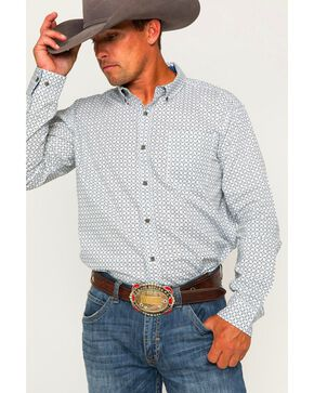 Cody James Men's Solvang Patterned Long Sleeve Shirt, White, hi-res
