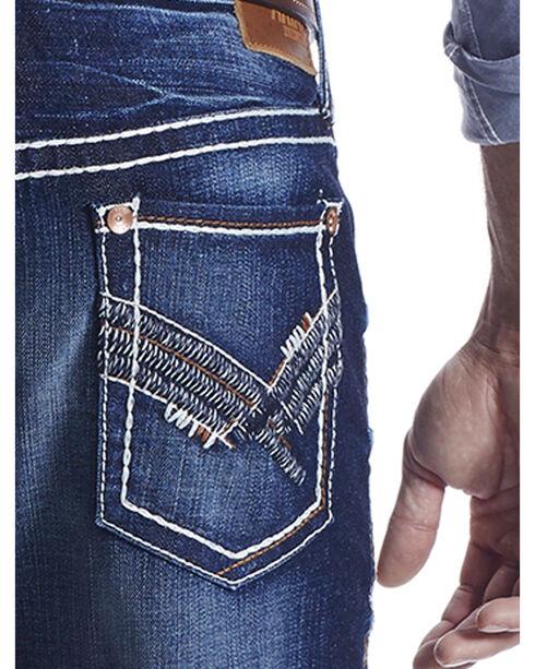 Ariat Men's Indigo M4 Jake Roundup Jeans - Boot Cut , Indigo, hi-res