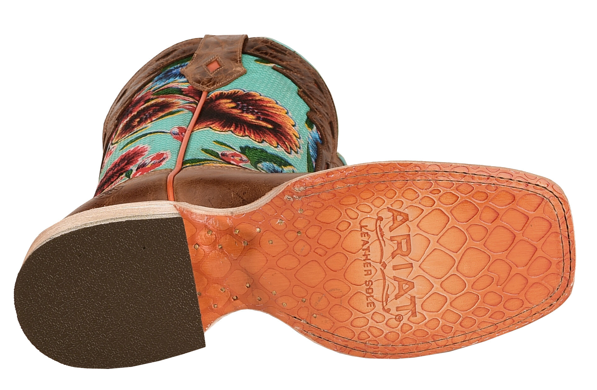 ARIAT Womens Floral Textile Circuit Champion Cowgirl Boot Square Toe