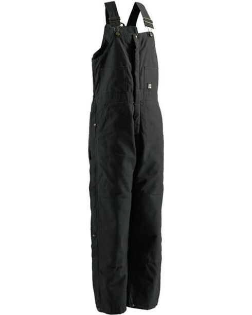 Berne Men's Black Deluxe Insulated Bib Overalls - Short, Black, hi-res