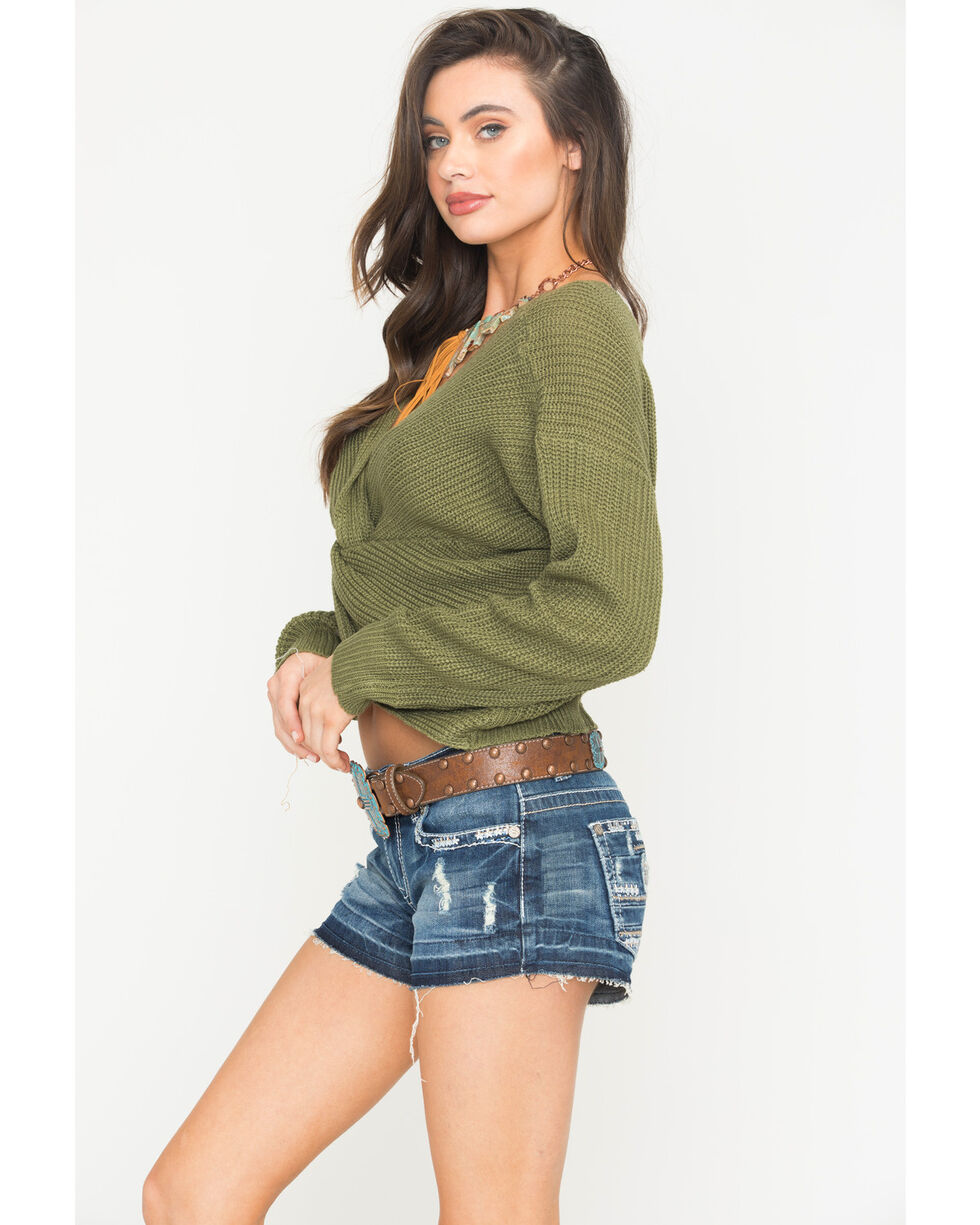 Sage The Label Women's Heart Throb Sweater , Green, hi-res