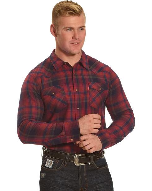 Levi's Men's Plaid Flannel Shirt, Red, hi-res