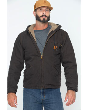 Carhartt Sierra Sherpa Lined Work Jacket, Brown, hi-res