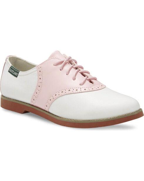 Eastland Women's Pink Sadie Saddle Oxford Shoes , Pink, hi-res