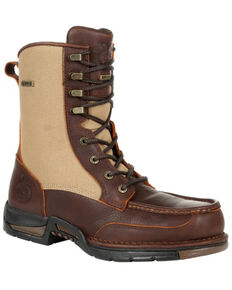 Georgia Boot Men's Athens Waterproof Upland Work Boots - Soft Toe, Brown, hi-res