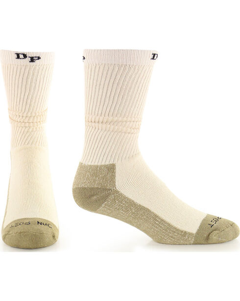 Dan Post Men's 2 Pack Mid-Calf Work & Outdoor Socks, Natural, hi-res