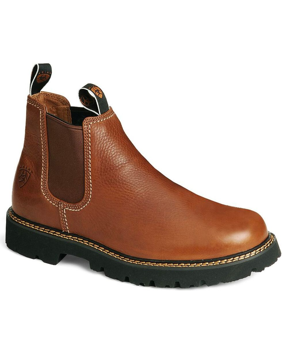 Ariat Men's Spot Hog Boots - Round Toe, Chestnut, hi-res