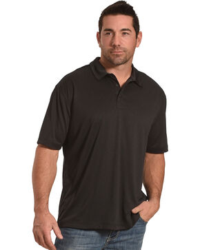 Cody James Men's Tech Short Sleeve Polo, Black, hi-res
