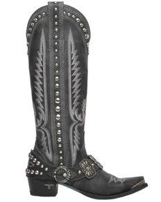 Lane Women's Silver Mesa Tall Western Boots - Snip Toe, Jet Black, hi-res