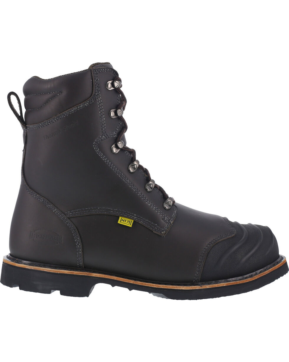 "Iron Age Men's 8"" Thermos Shield Work Boots , Black, hi-res"
