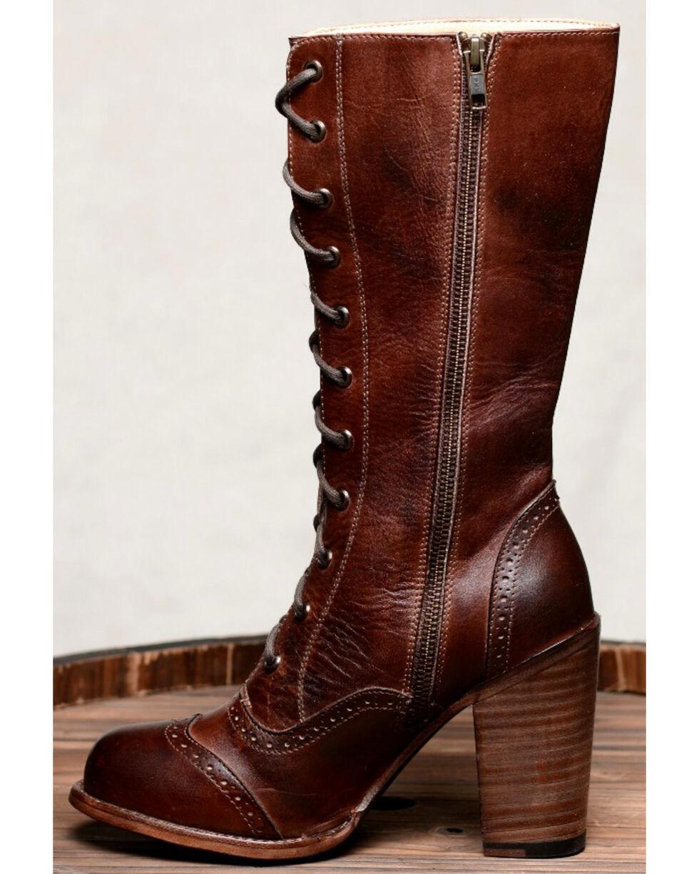 Oak Tree Farm Ariana Teak Brown Boots - Round Toe, Dark Brown, hi-res