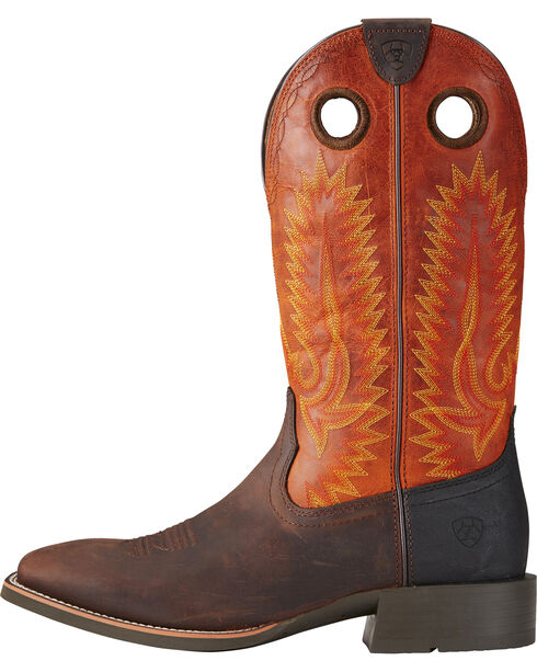 Ariat Men's Heritage High Plains Cowboy Boots - Square Toe, Brown, hi-res