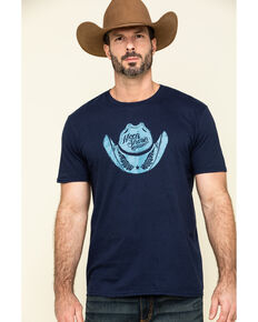 Moonshine Spirit Men's Taco Hat Graphic Short Sleeve T-Shirt , Navy, hi-res