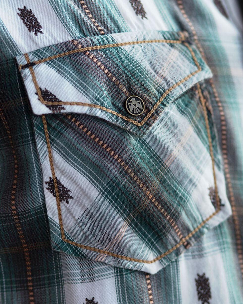 Ryan Michael Men's Brushed Ombre Dobby Plaid Shirt, Evergreen, hi-res