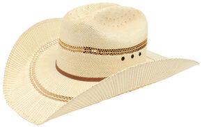 Ariat Double S Bangora Straw Cowboy Hat, Tan, hi-res