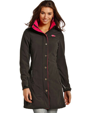 Powder River Outfitter Women's Black Splitrail Softshell Coat , Black, hi-res