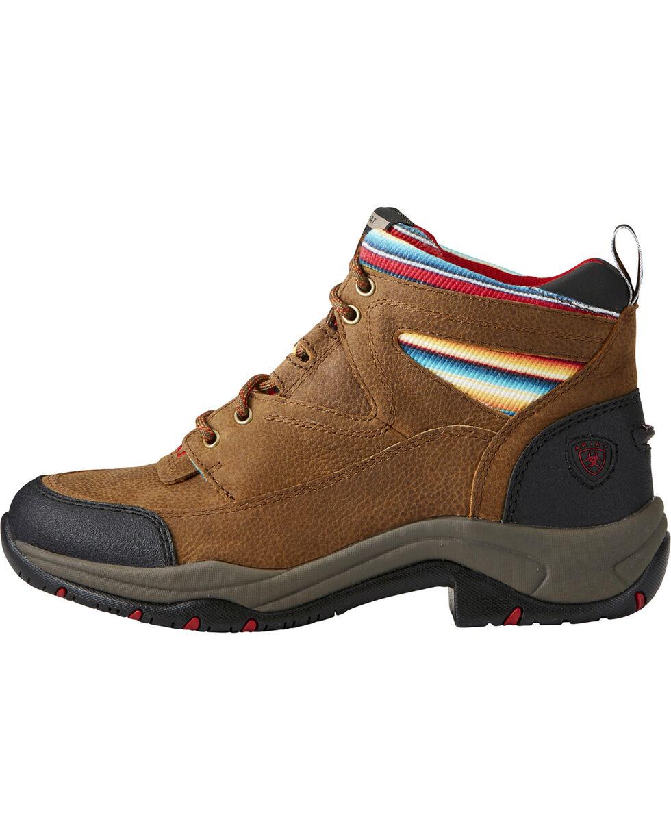 Ariat Women's Terrain Serape Stripe Boots - Round Toe, Lt Brown, hi-res