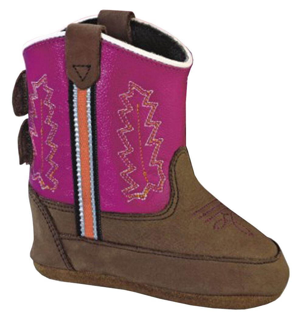 Old West Infant Girls' Poppet Crib Boots, Brown, hi-res