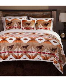 carstens free rein queen bedding 5 piece set orange hi res - Horse Bedding