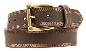 Nocona HDX Triple Stitched Belt, Brown, hi-res