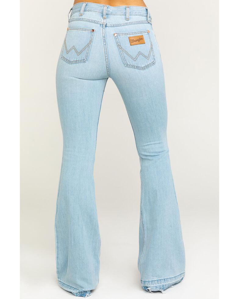273bb12e Zoomed Image Wrangler Women's Heritage Tencel Flare Jeans, Light Blue,  hi-res