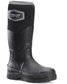 Carolina Men's Tall Mud Jumper Rubber Boots - Steel Toe, Black, hi-res