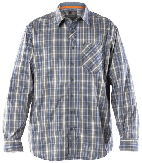 5.11 Tactical Men's Covert Flex Long Sleeve Shirt, Blue, hi-res